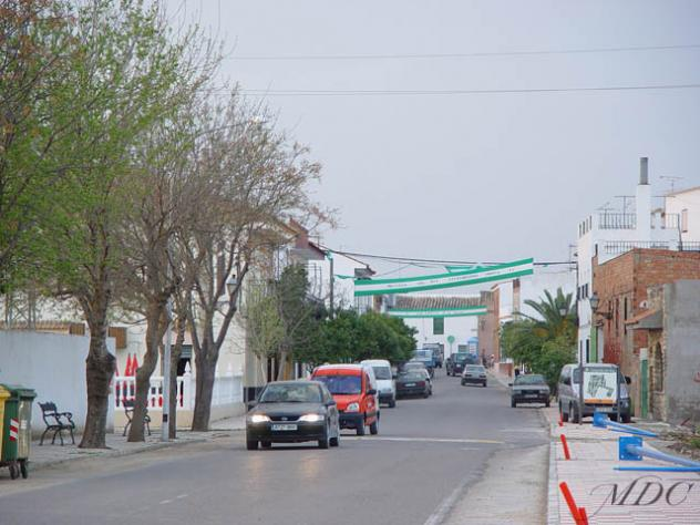 Vista de la entrada a la localidad de Ochavillo del Río